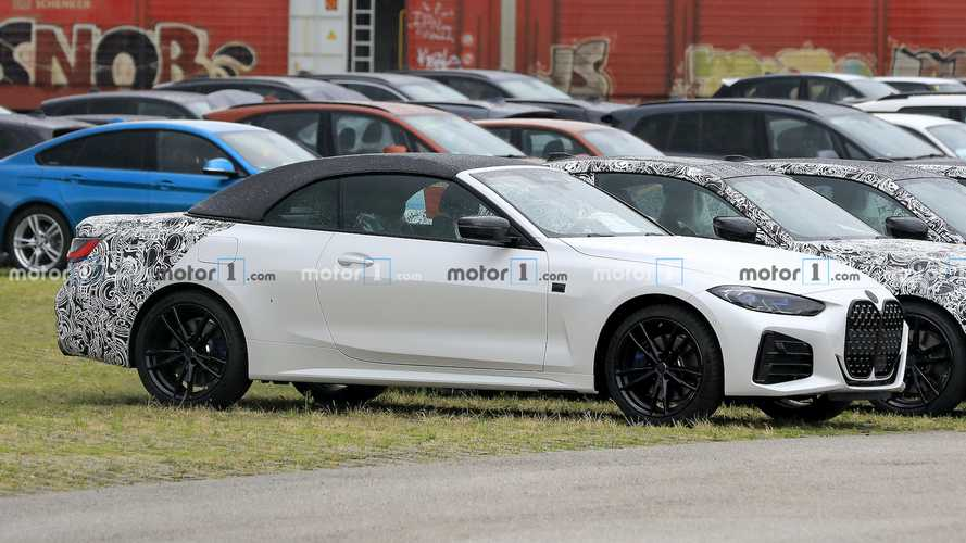 New BMW 4 Series Convertible Spy Images