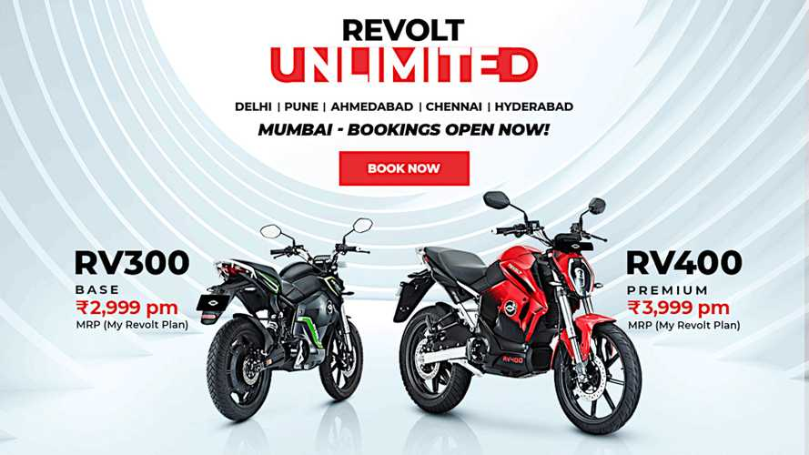 Revolt Is Now Offering Electric Motorcycle Subscriptions In India