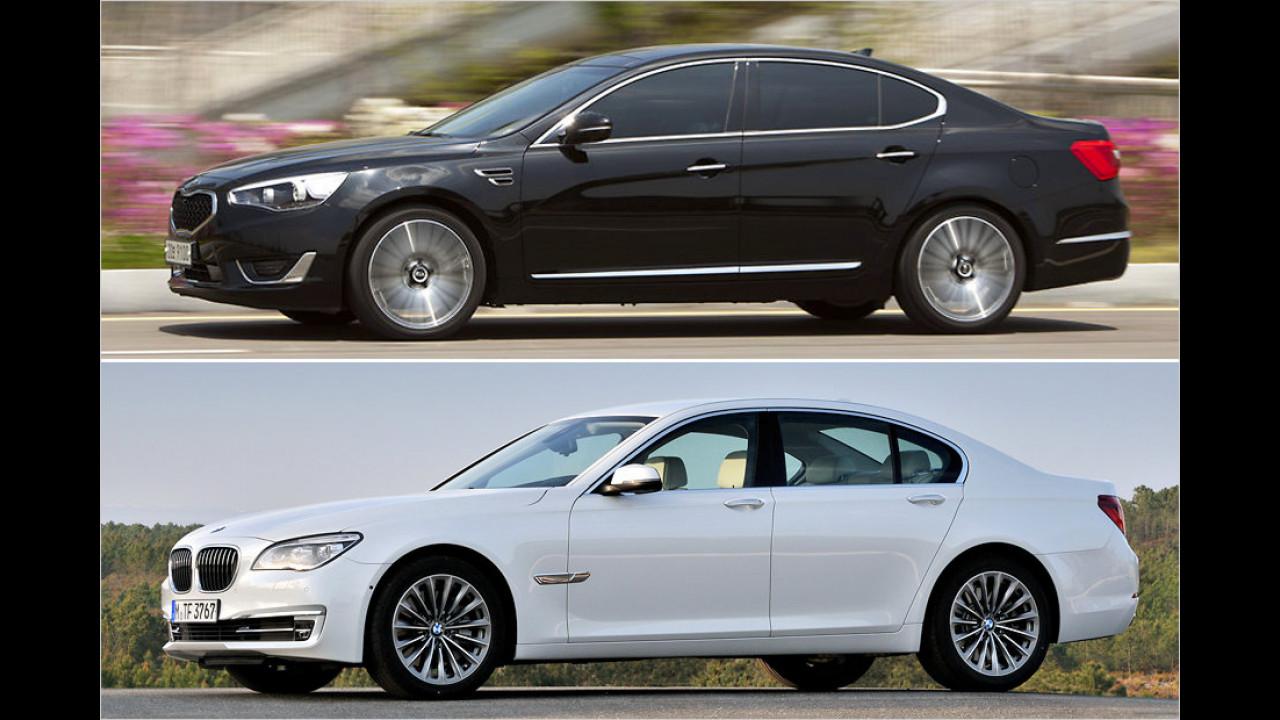 Kia K9 und BMW 7er