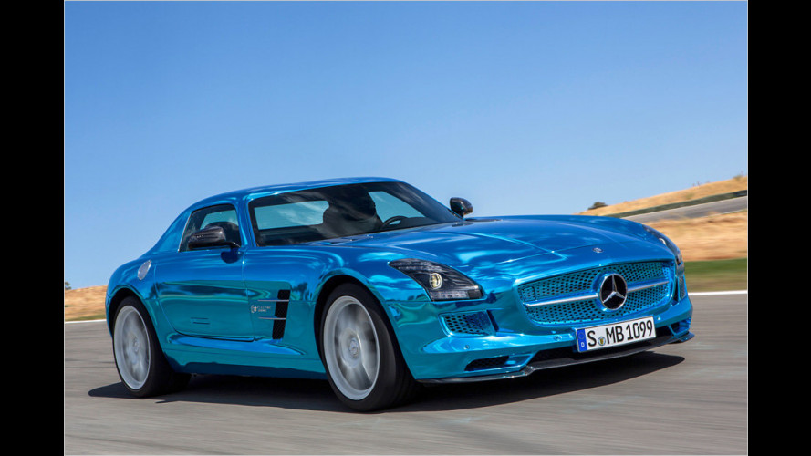 Mercedes SLS AMG Coupé Electric Drive startet 2013