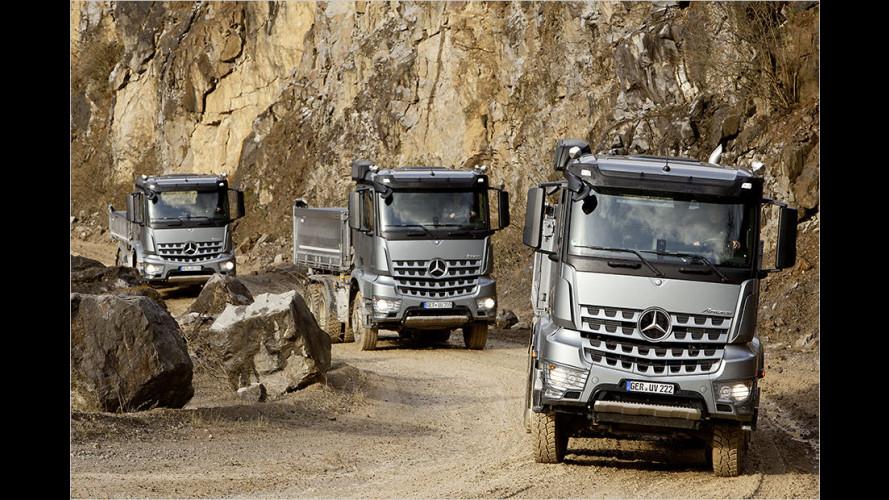 Daimler auf der Bauma 2016: Bau-LKW von A wie Arocs bis Z wie Zetros
