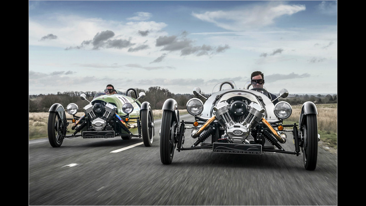 Flachstes Serienauto: Morgan Threewheeler, 1,01 Meter