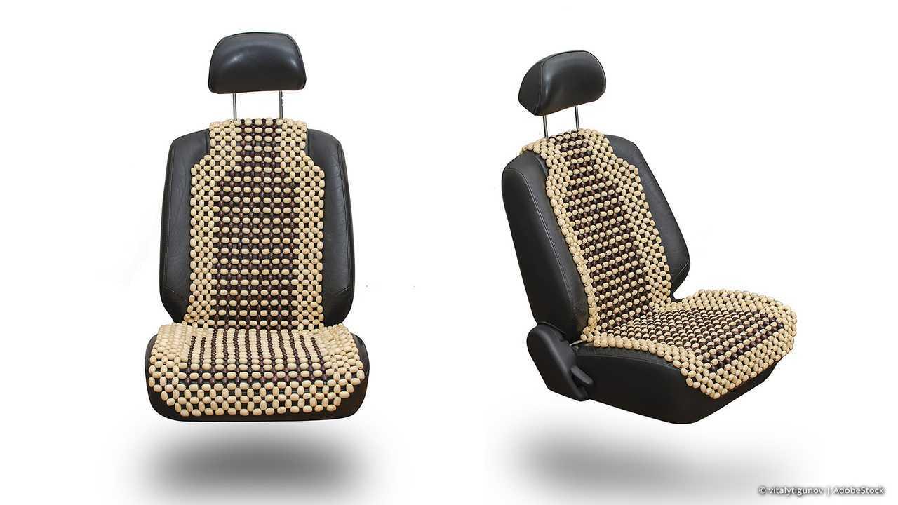 Auto-Accessoires der 70er bis 90er: Sitzauflage aus Holzperlen
