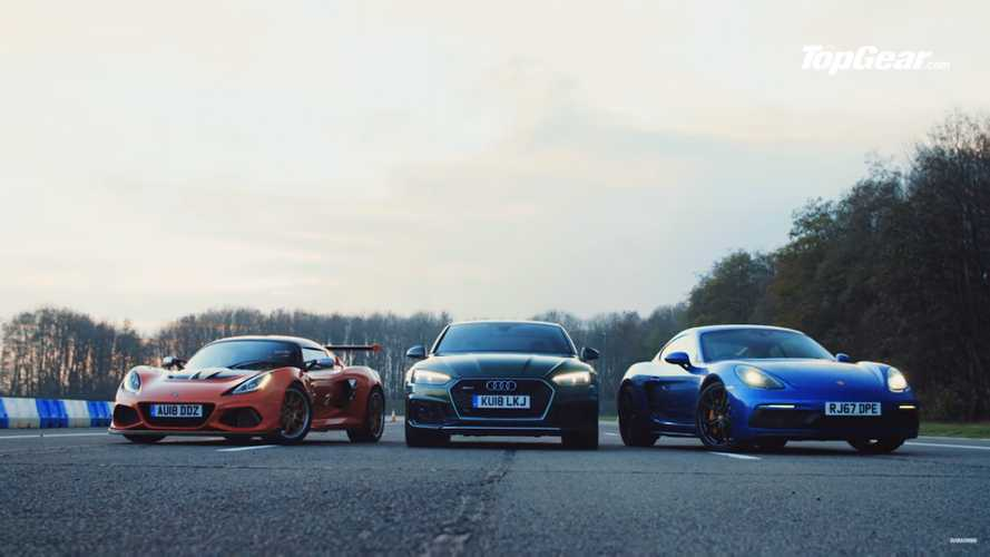 Top Gear drag races Cayman GTS against Audi RS5, Lotus Exige Cup 430