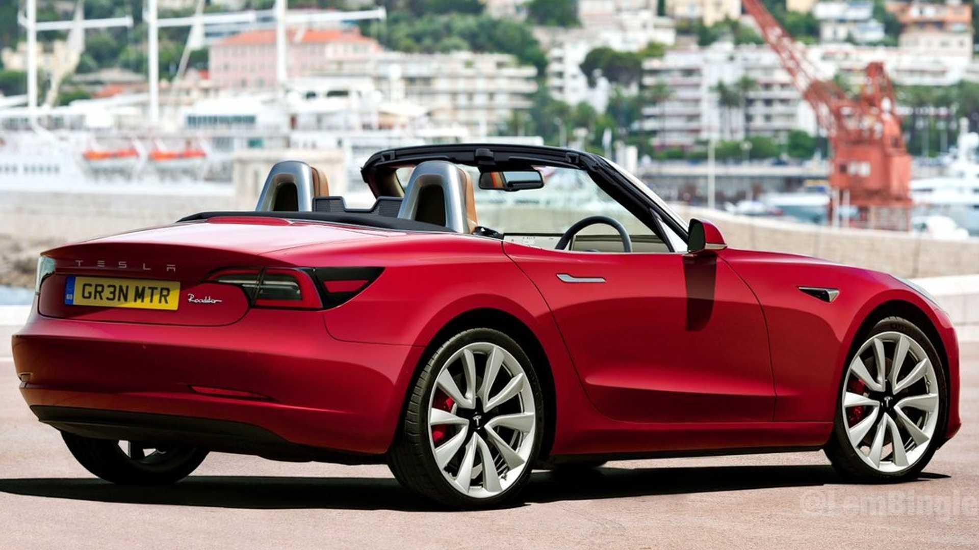 Tesla Model 3 Convertible Coupe Rendered To Take On Mazda MX-5 Miata