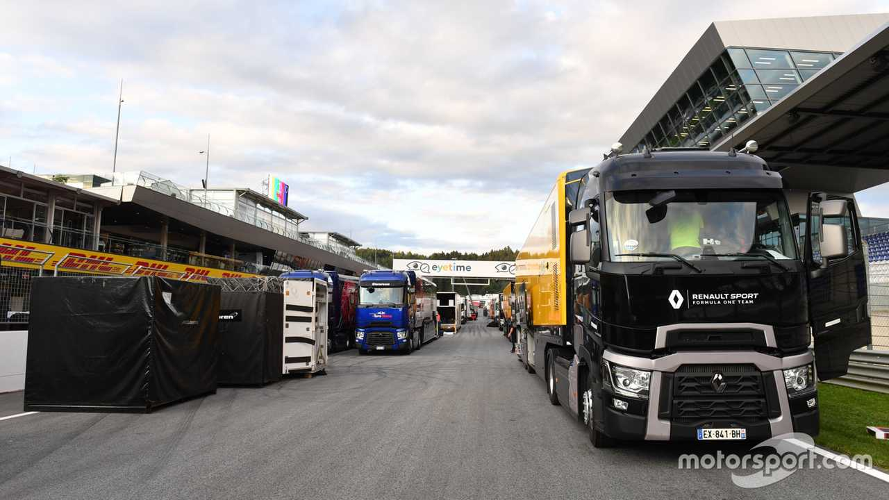 Renault Sport F1 Team truck and freight at Austrian GP 2019