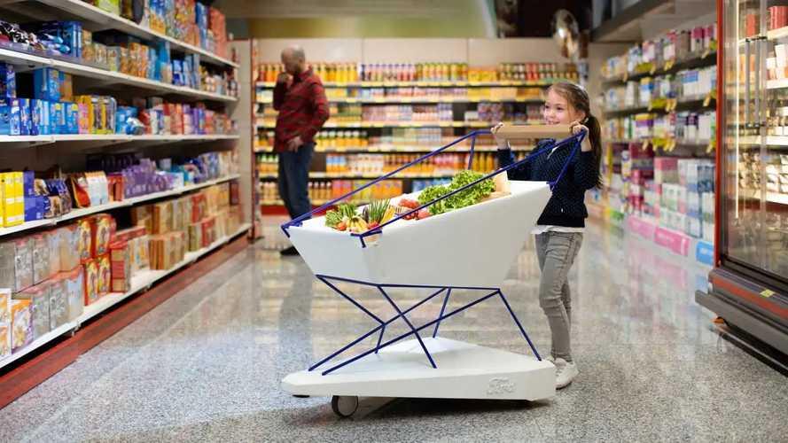 Neue Ford-Erfindung: Der selbstbremsende Einkaufswagen