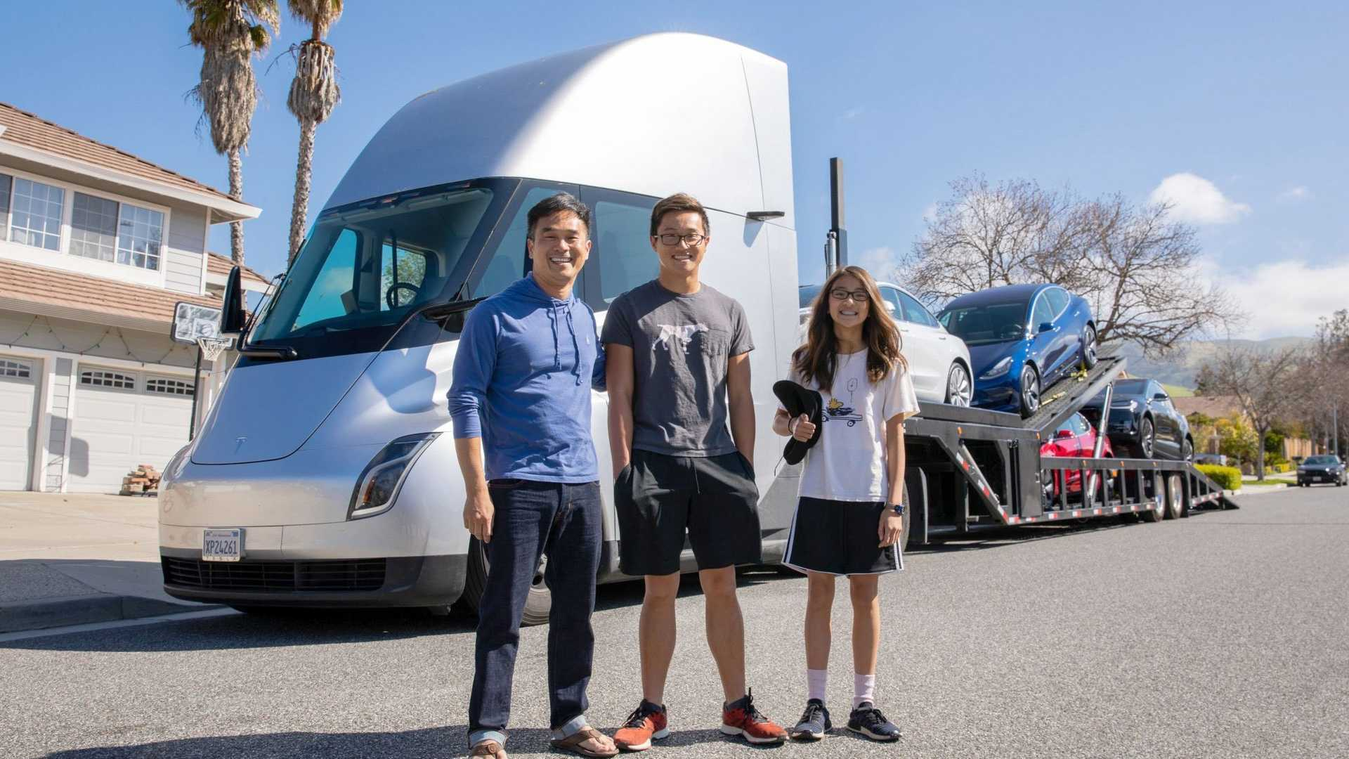 The Tesla Semi Truck Is Actually Delivering Cars To Customers