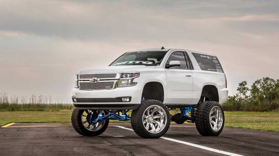 This 2015 Chevrolet Tahoe Suburban SEMA Build Broke The Internet