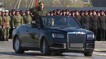 aurus convertible debut military parade