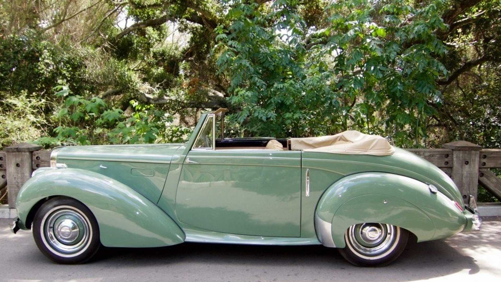 "[""Rare Willow Green 1951 Alvis TA21 Drophead Coupe By Tickford""]"