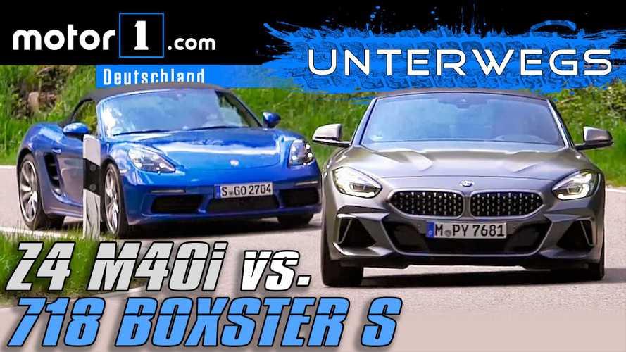 Video: BMW Z4 M40i vs. Porsche 718 Boxster S im Vergleichstest
