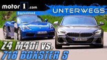 video bmw z4 m40i porsche 718 test