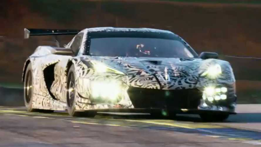 2020 Chevy Corvette C8.R Race Car Teased, Reveal Coming Soon