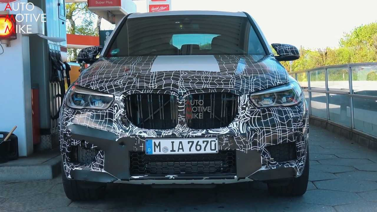 2020 BMW X5 M screenshot from spy video