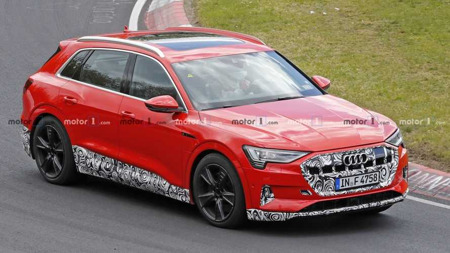 2020 Audi  E-Tron S Spied For The First Time Cruising The 'Ring