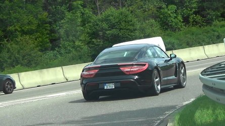 Porsche Taycan prototypes spotted just weeks before reveal