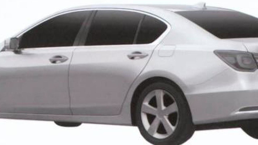 2013 Acura RLX revealed in patent photos