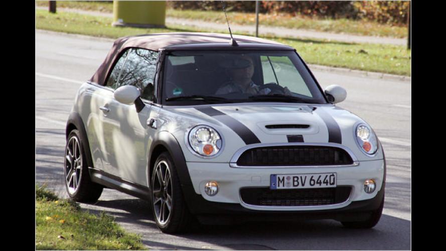 Nur noch leicht getarnt: Erste Bilder des Mini Cabrio