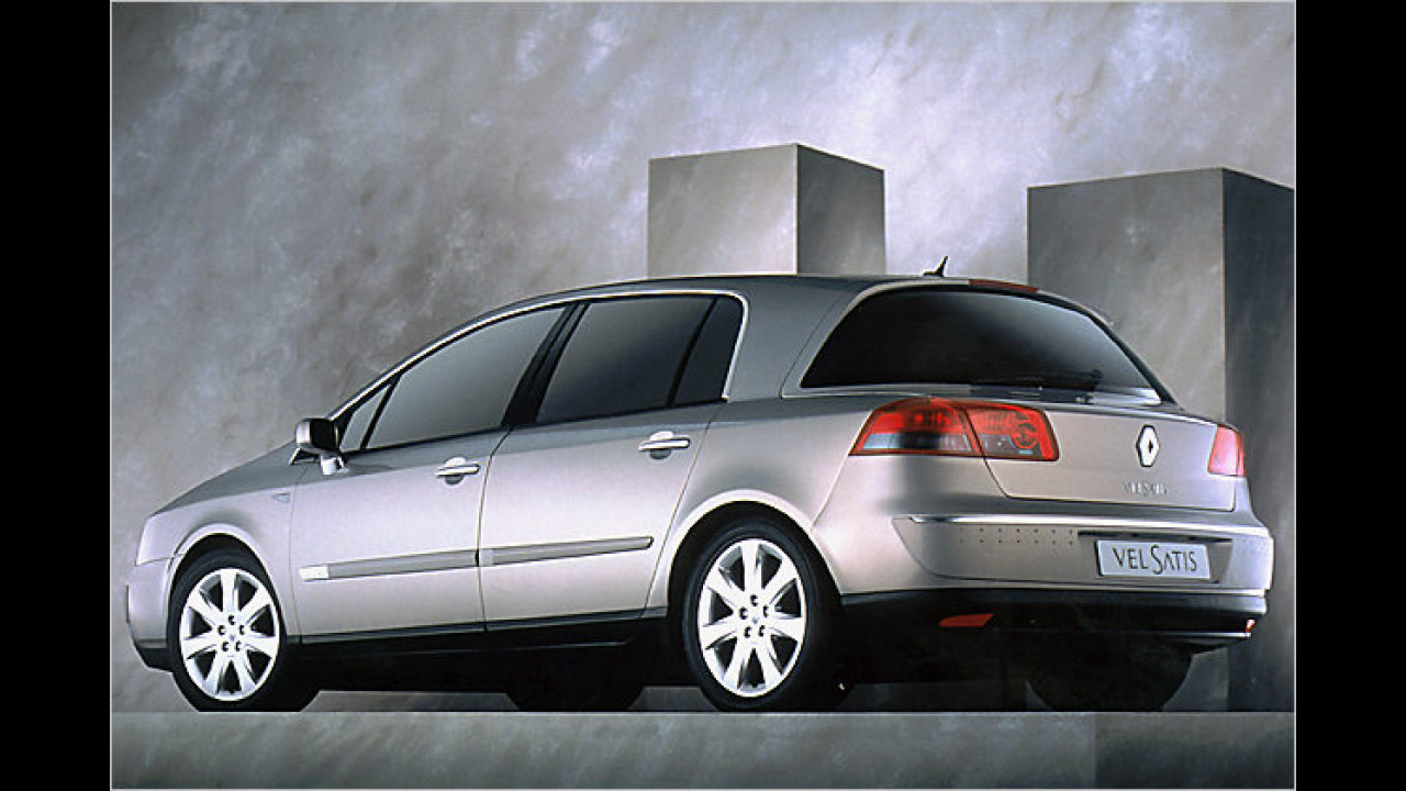 Ambitioniertes Design für eine kleine Zahl von Fans: Der 2001 in Genf gezeigte Renault Vel Satis führt ein Exoten-Dasein