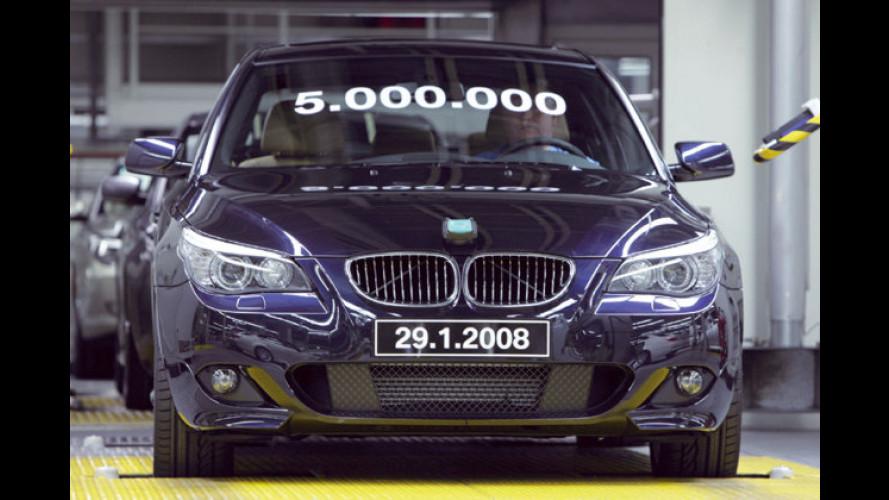 Modelljubiläum: Fünf Millionen BMW 5er in fünf Generationen