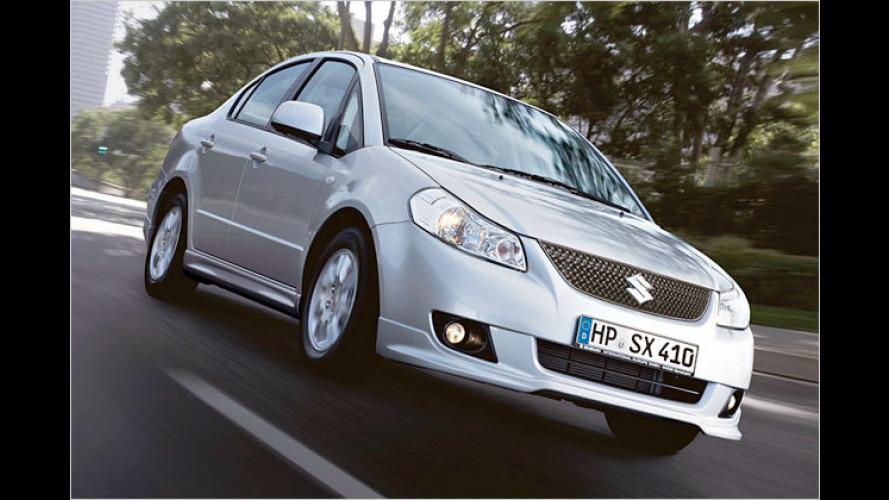 Suzuki SX4 Limousine: Kleines Facelift und mehr Power