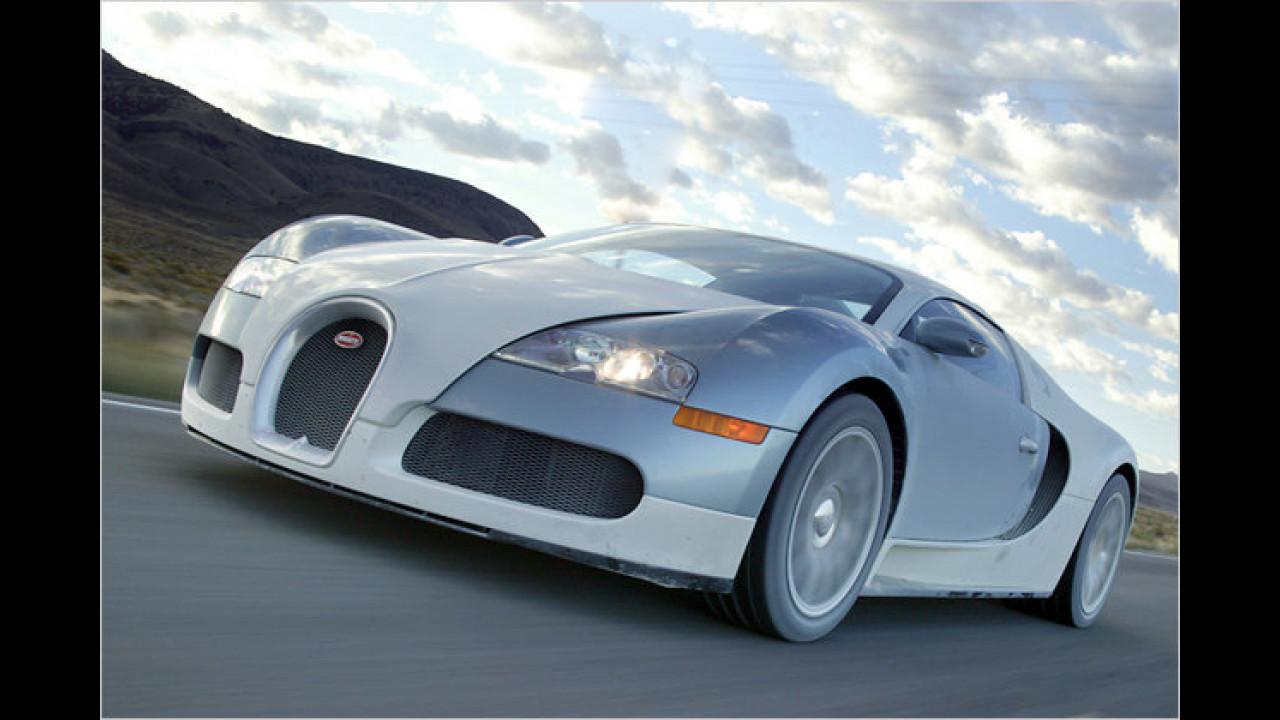 Schnellste Beschleunigung 0-100 km/h: Bugatti Veyron 16.4
