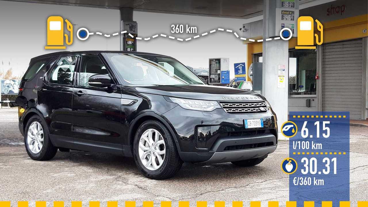 Land Rover Discovery 3.0 V6 diesel, la prova consumi
