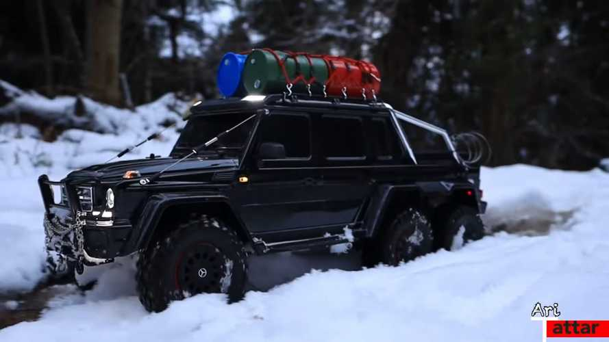 Traxxas Mercedes-AMG G63 6X6 RC Off-Roader Fears No Snowstorm