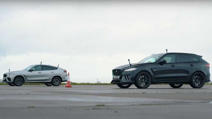BMW X6 M shows 666-bhp Lister Jaguar F-Pace who's the boss in a drag race