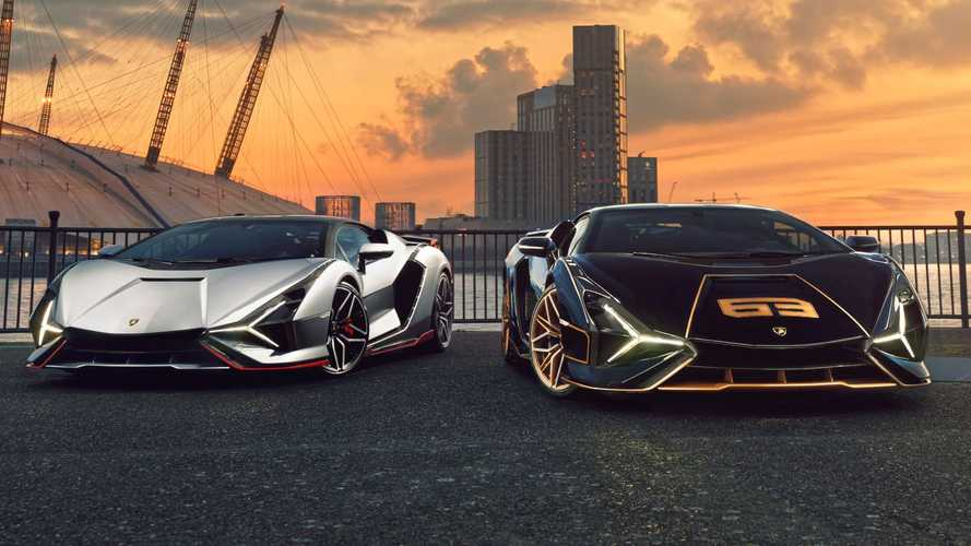 London dealer delivers two new Lamborghin Sians