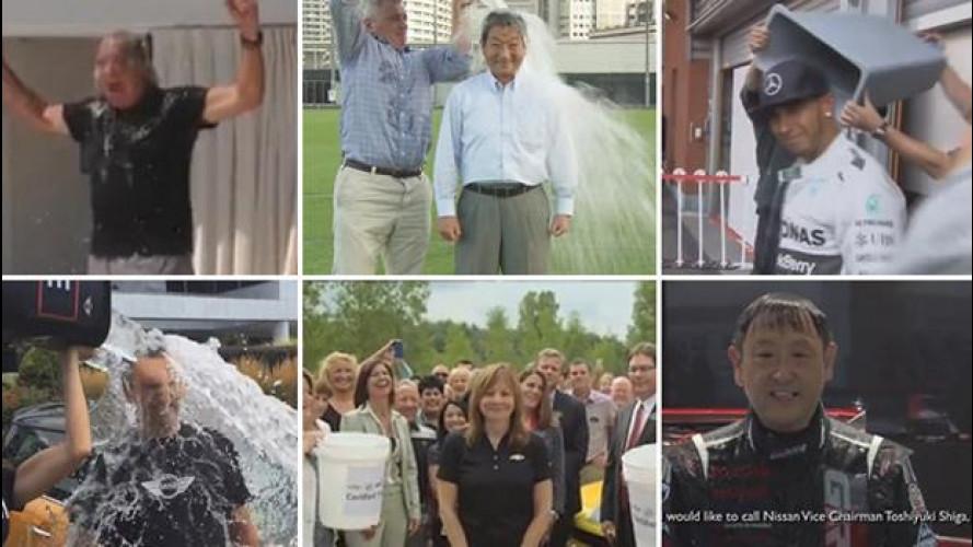 L'Ice bucket impazza tra i VIP dell'auto, video-carrellata di docce gelate