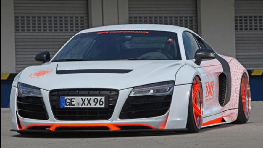 Audi R8 XXX Performace, timidezza addio