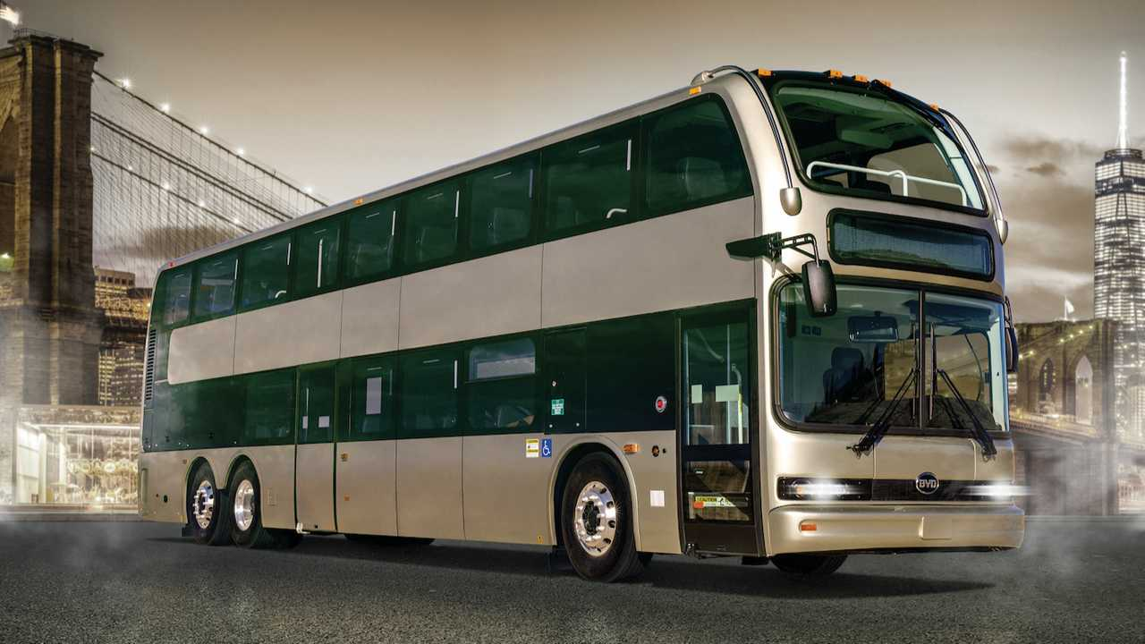 BYD 45-foot double-deck C10MS battery-electric motorcoach