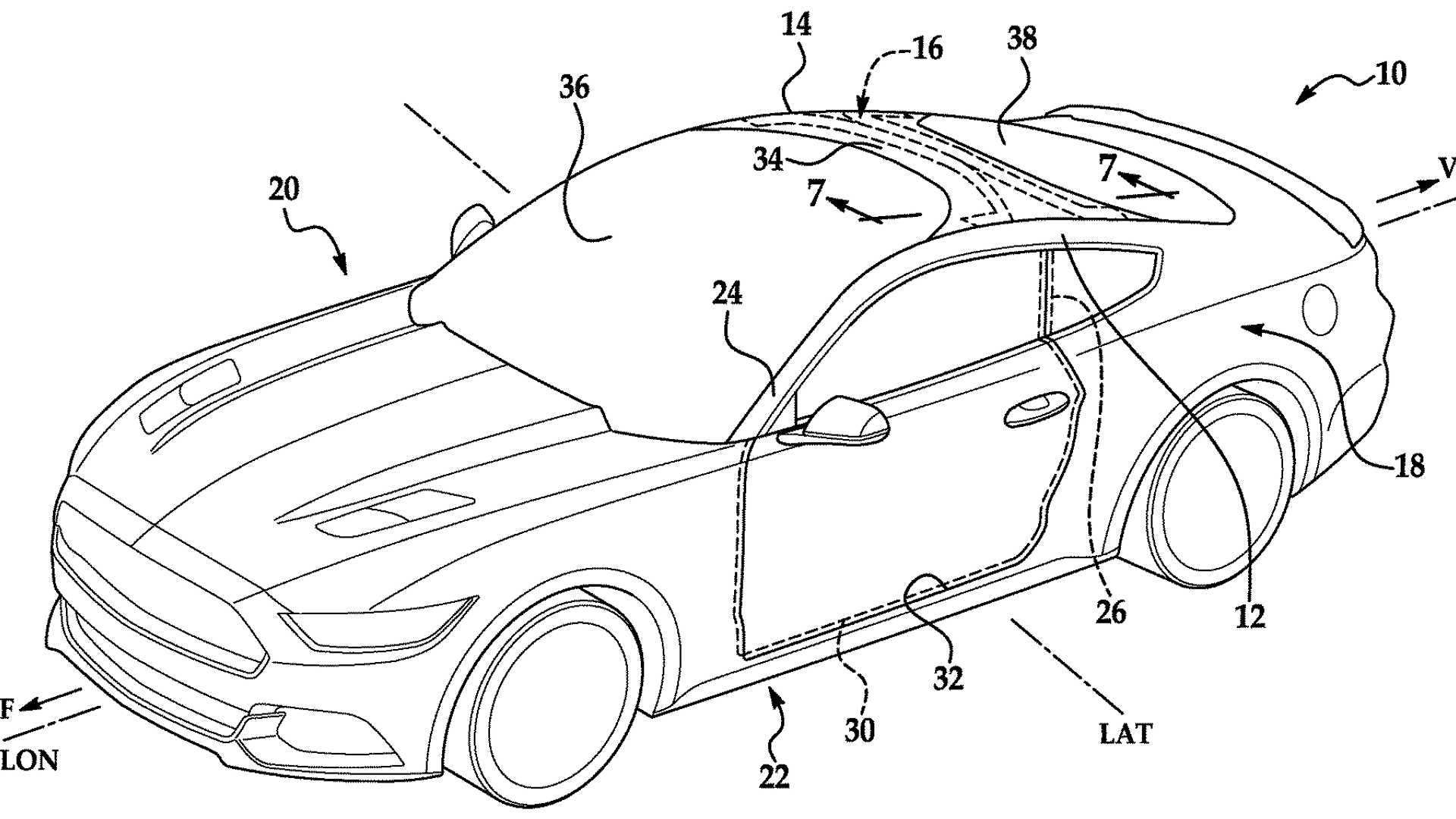 Ford Patent Uses Mustang To Illustrate Idea For Huge Windshield