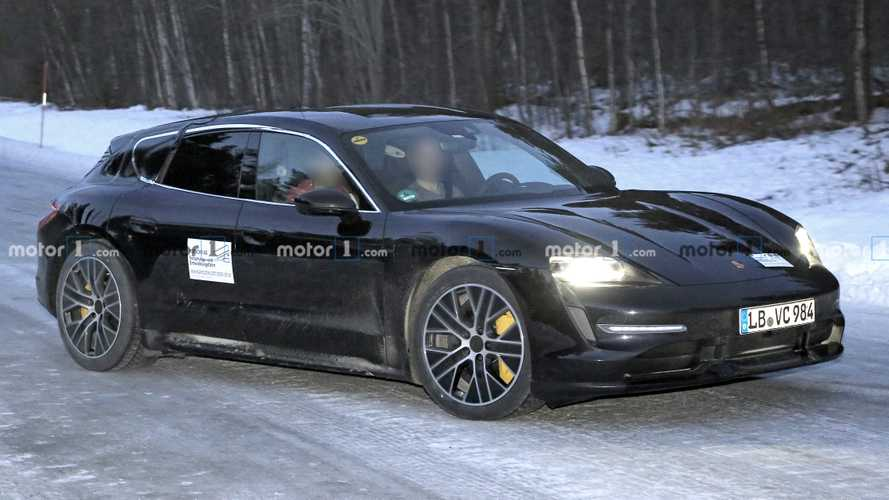 Porsche Taycan Cross Turismo sheds camo in spy shots, or does it?