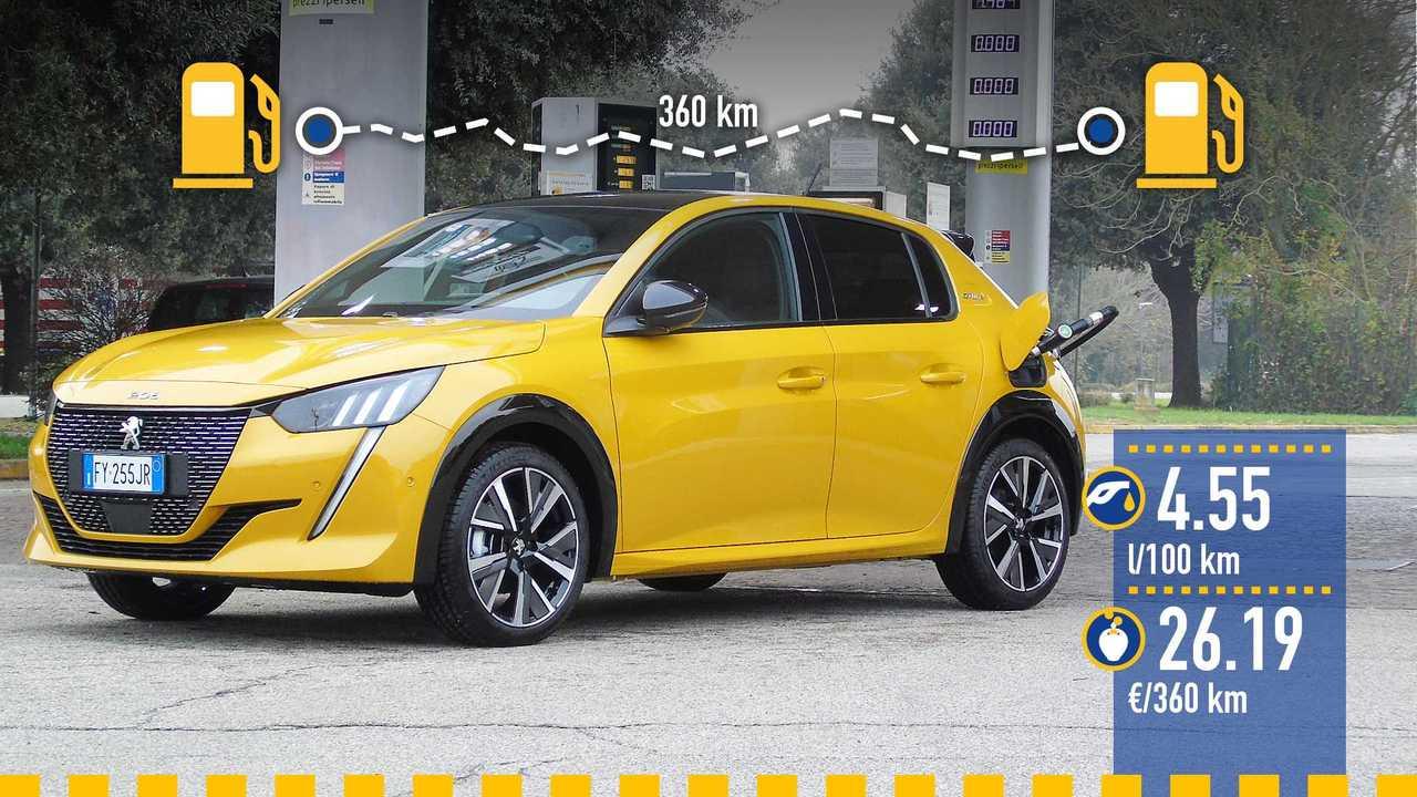 Peugeot 208 PureTech 130 benzina, la prova consumi
