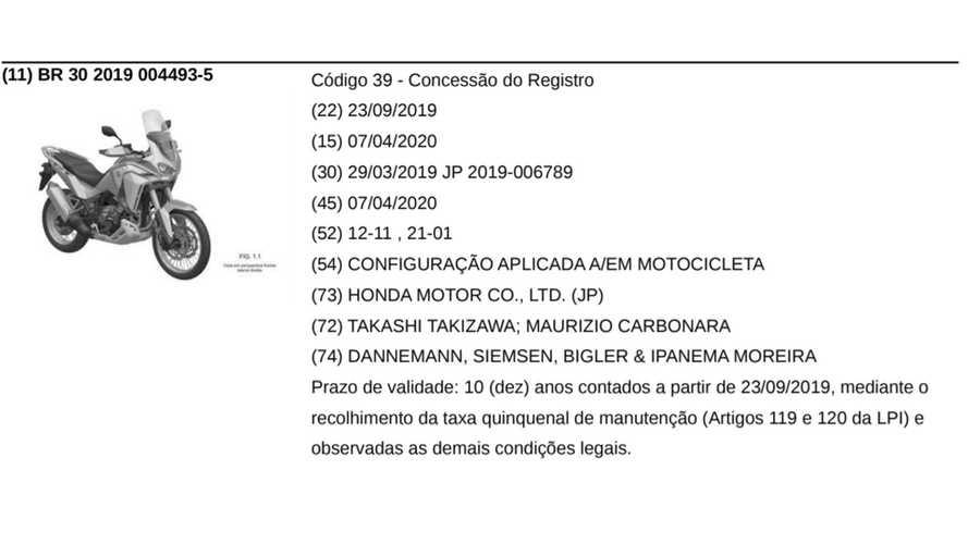 Honda CRF110L Africa Twin 2021 - Registro no Brasil