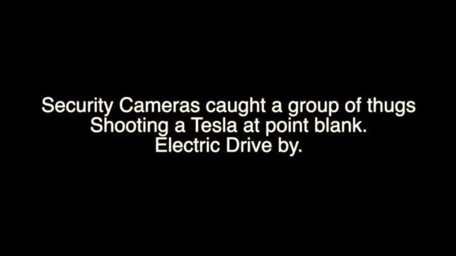 Tesla Model X Getting Shot