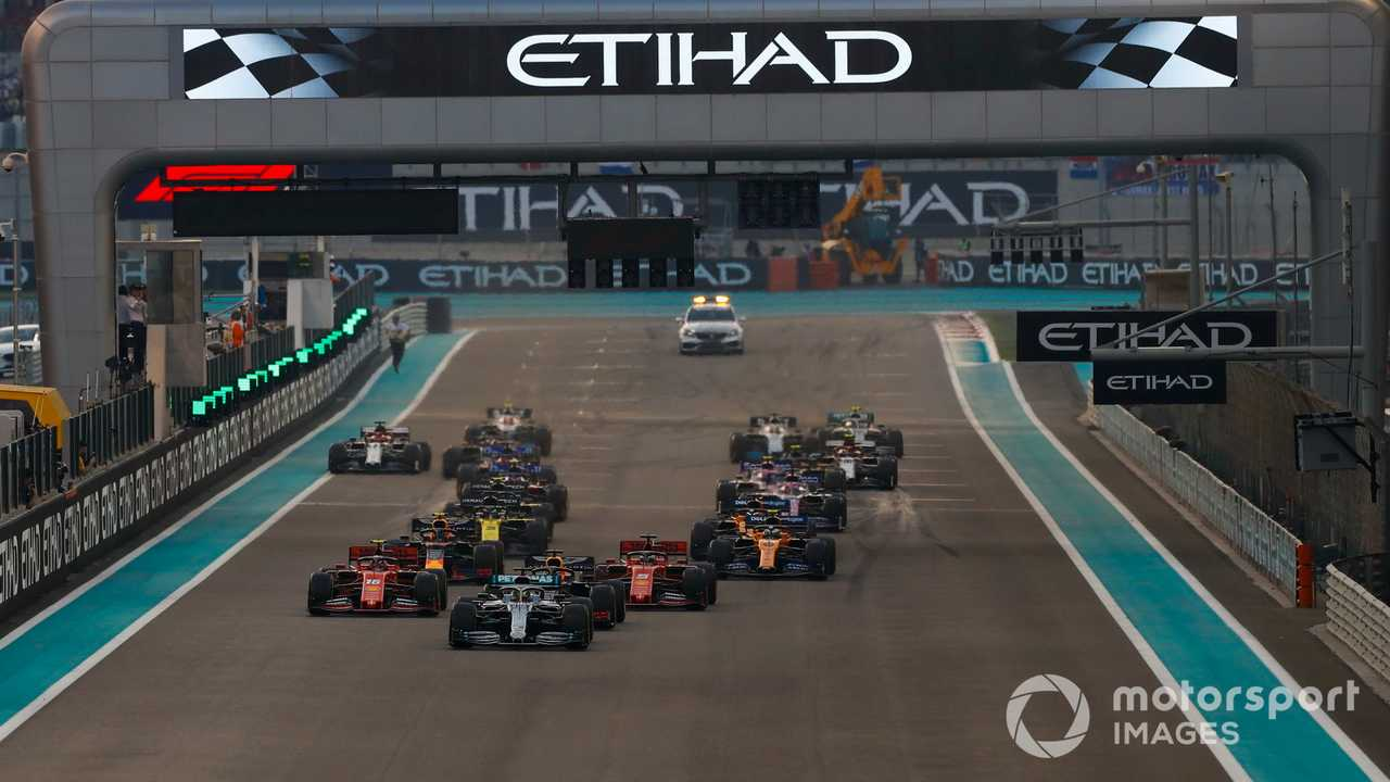 Abu Dhabi GP 2019 start race