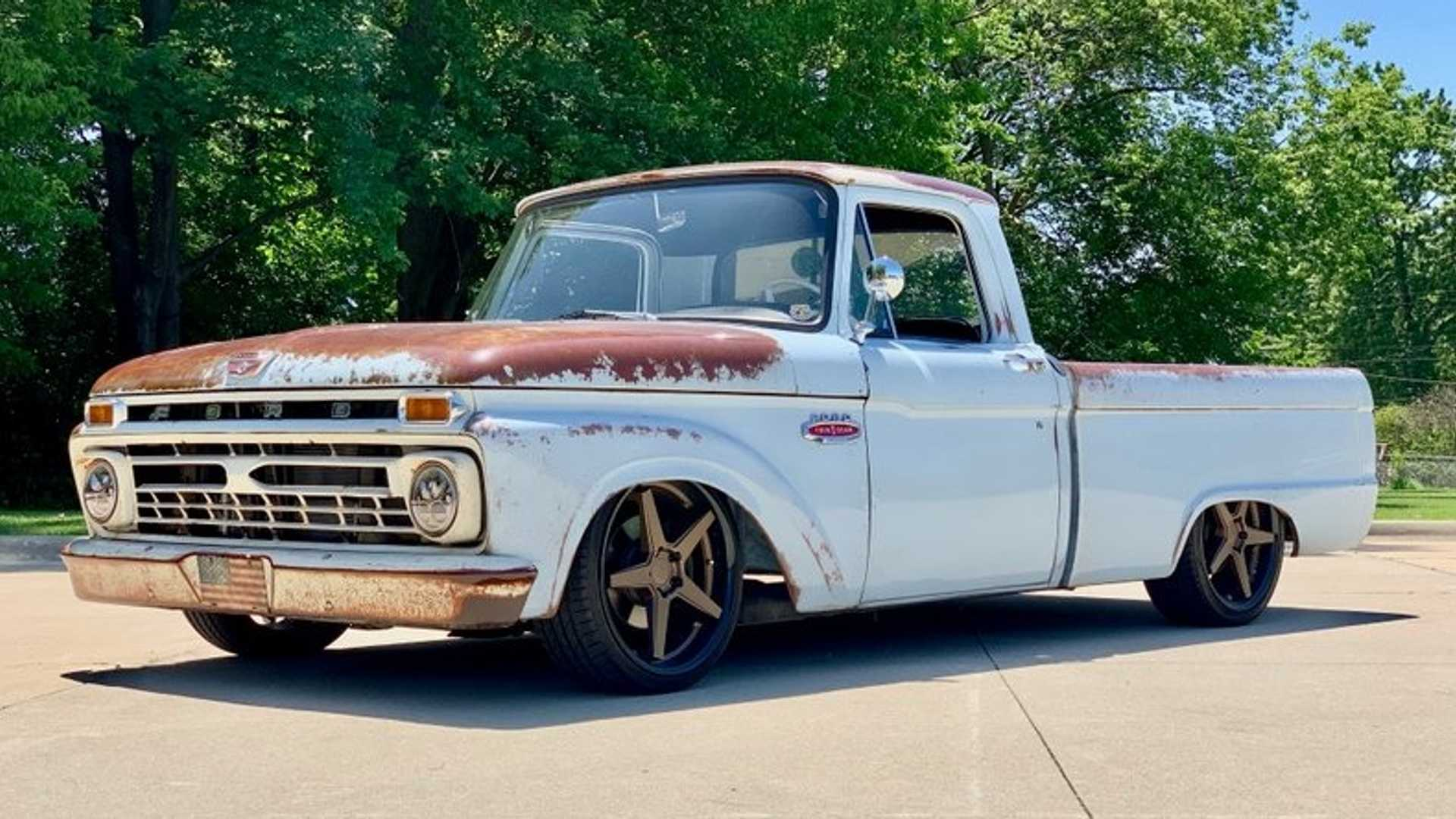 """[""""Own This 1966 Ford F100 With Old-School Looks And Modern Power""""]"""