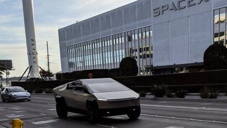 Jay Leno, Elon Musk spotted in Tesla Cybertruck near SpaceX HQ