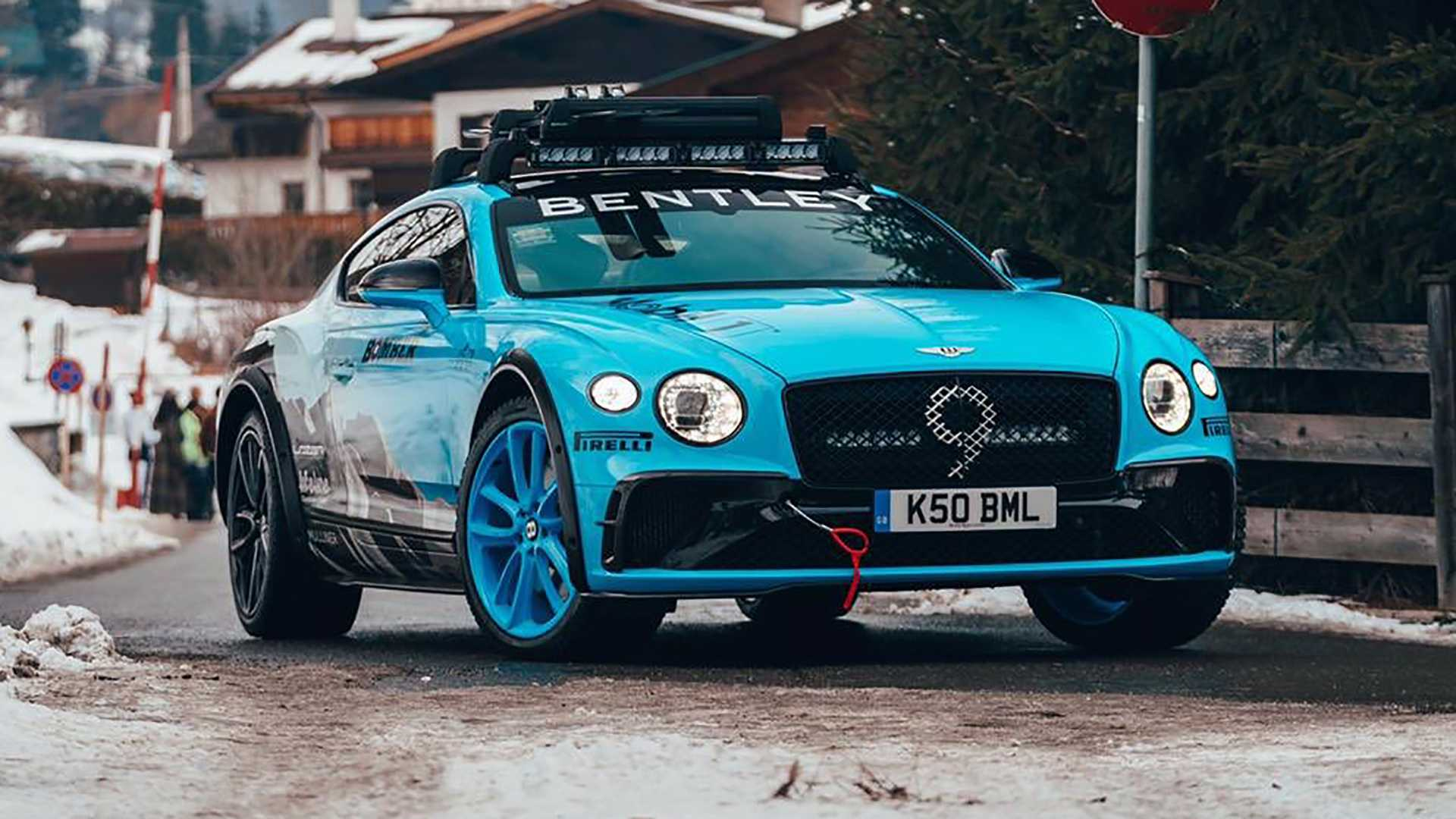 Bentley teases rally-ready Continental GT in Austria
