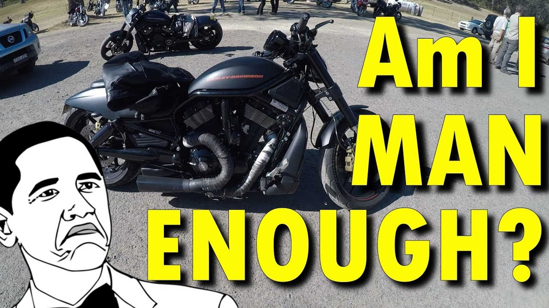 Watch This Sportbike Rider Try A Harley Fat Bob