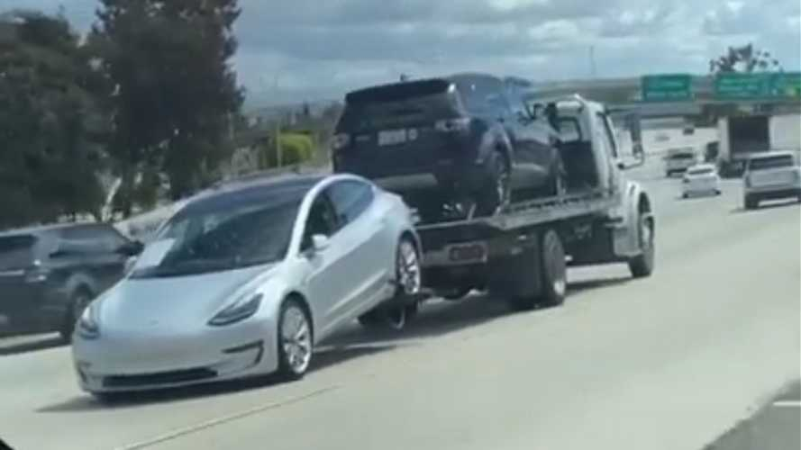 This Tesla Model 3 Towing Video Might Make You Cringe