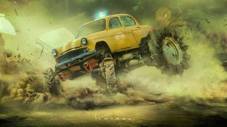 Auto post apocalittiche by Daniyar Kdyrov