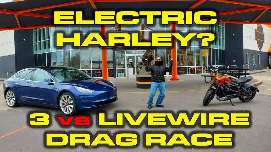 Harley-Davidson LiveWire vs Tesla Model 3 Drag Results