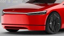 Render Tesla Model S Cybertruck