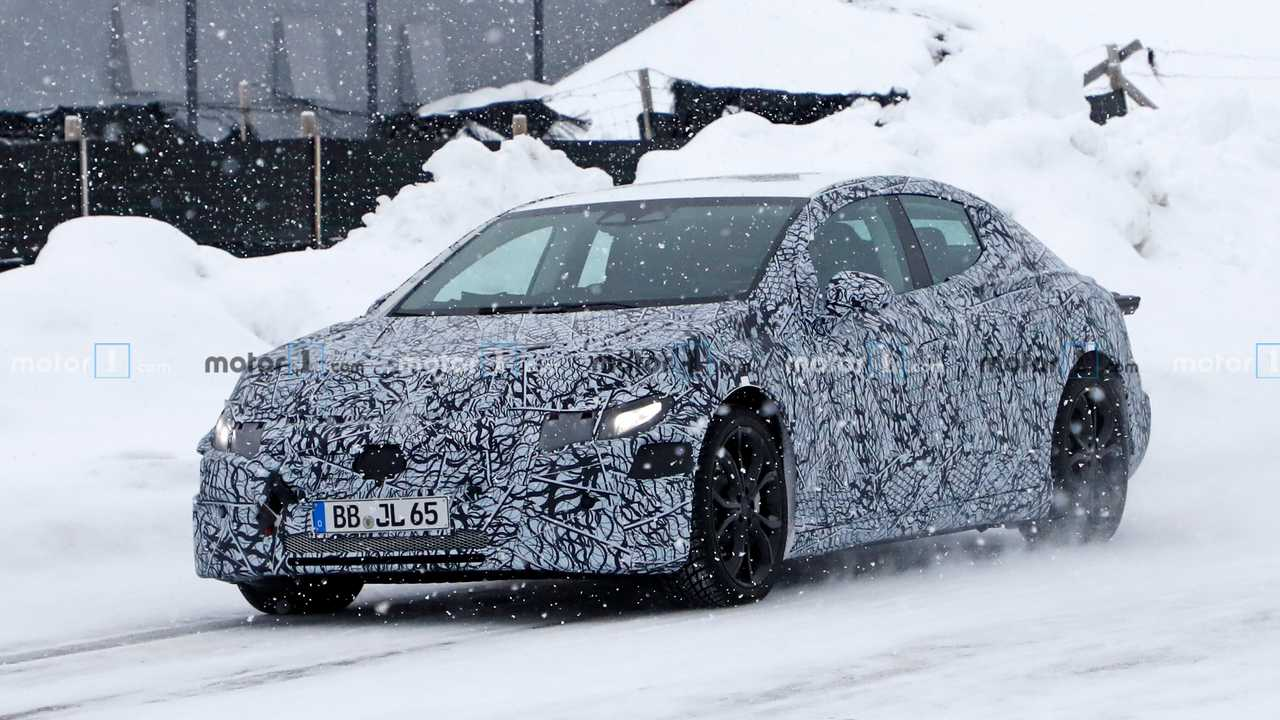 Mercedes EQE or EQS spy photo
