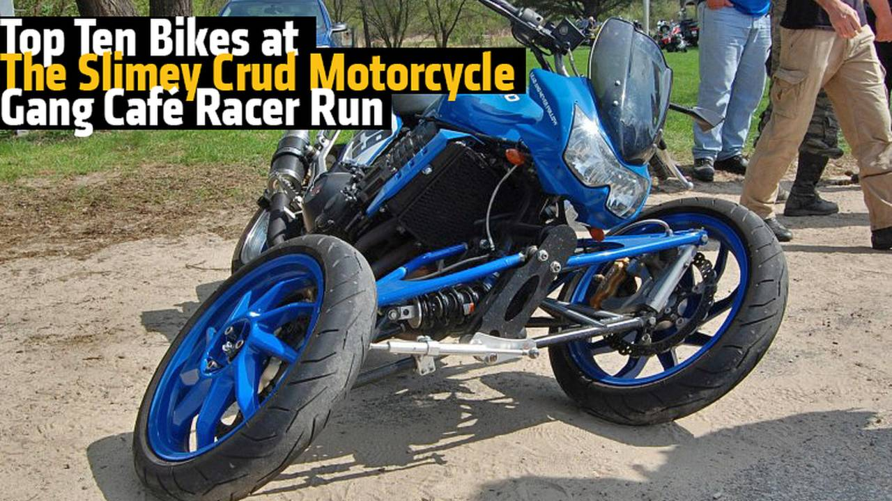 Top Ten Bikes at The Slimey Crud Motorcycle Gang Café Racer Run